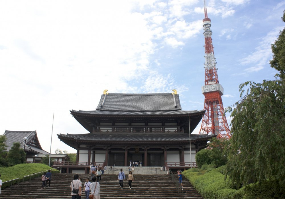 Le temple Zojo-ji et la tour de Tokyo