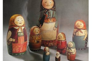 One of the first Russian Matryoshkas, 1890's