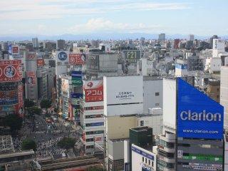 La vue du 11ème étage : Au loin quelques massifs
