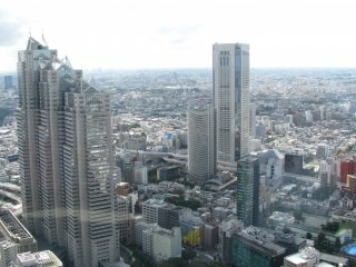 The view of Tokyo from the Metropolitan Building, Shinjuku