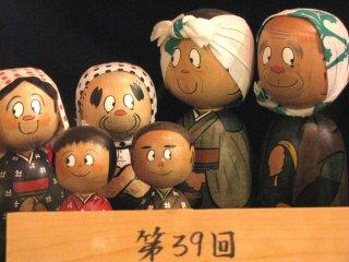 Funny Kokeshi dolls