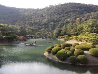 Even more peaceful than walking, some people tour the garden by boat