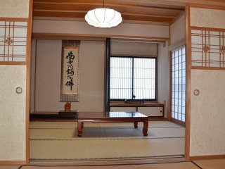 Guest room with tokonoma alcove