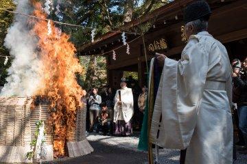 Ohitaki Fire Festival Kifune Shrine