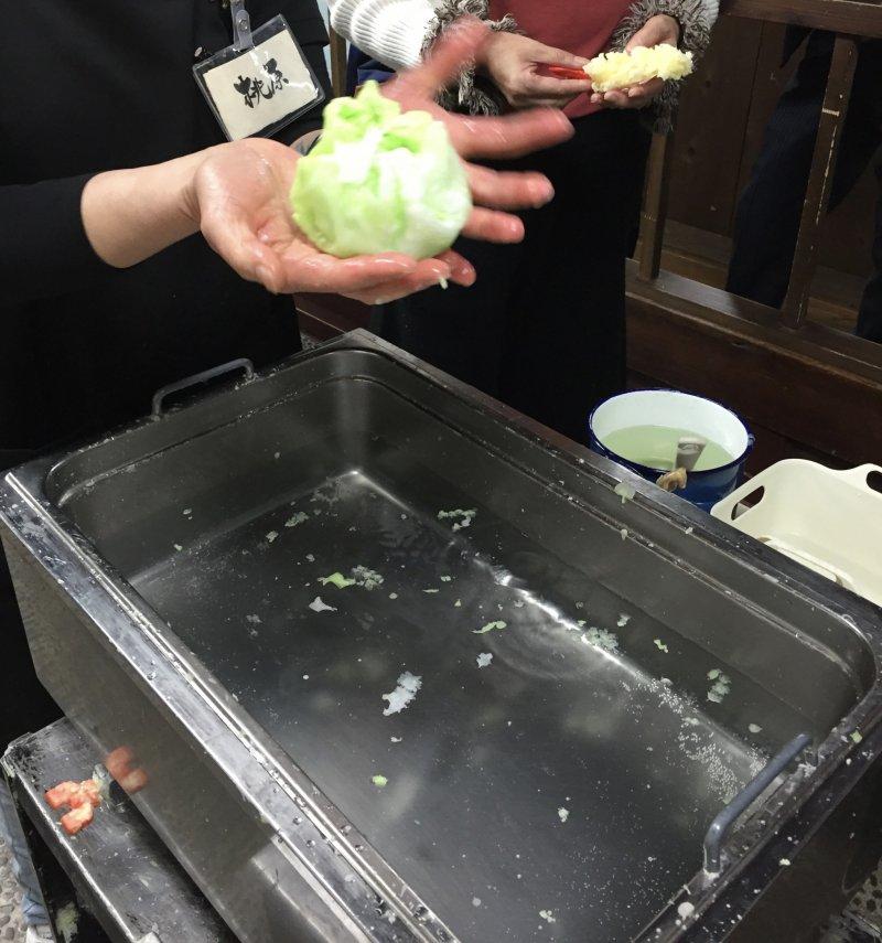 Le tempura et son choux