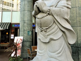 Statue on a street corner