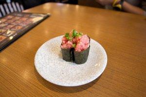 Negi-Toro sushi (spring onion and tuna)