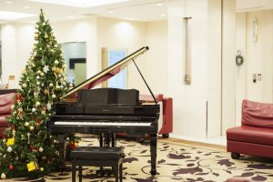 The piano in the lobby