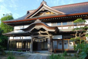 One of over 20 shukubo in Toge village where you can stay overnight and enjoy Dewa Sanzan Shojin Ryori