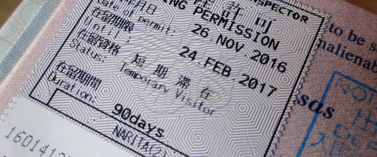 A temporary visitor visa