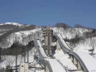 Le stade de saut à ski