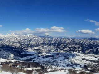 Panoramic view from the mountain-top patio bar.