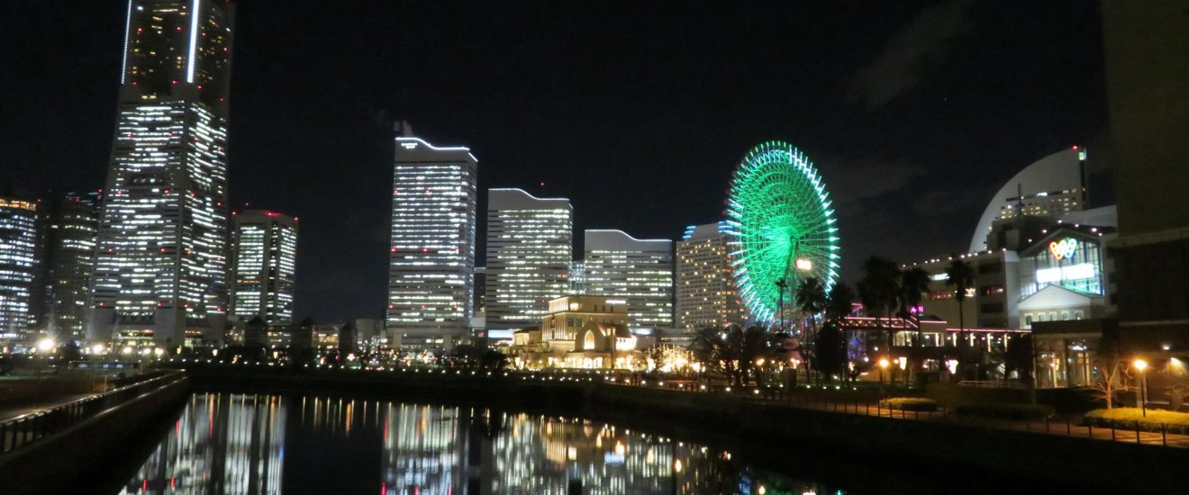 Yokohama night view just 15 minutes from hotel