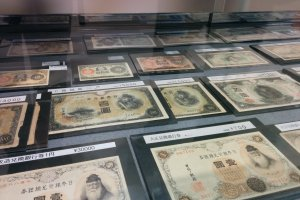 Old Japanese bank notes