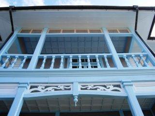 Close-up view of Western-style house at Nagasaki's Hollander Slope