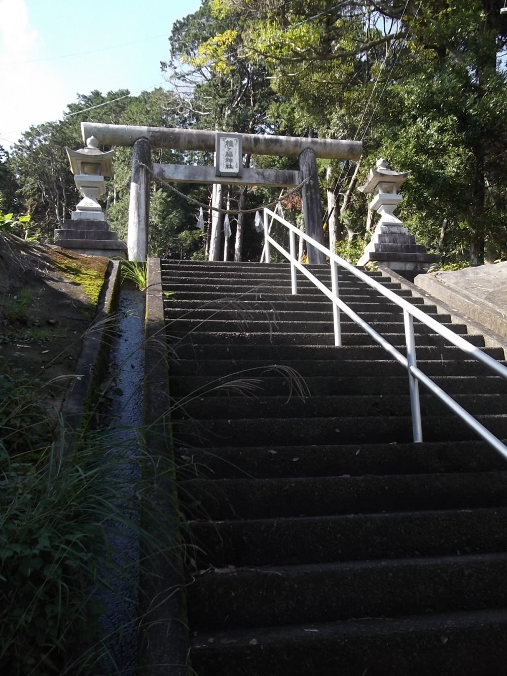 The steps up to the shrine