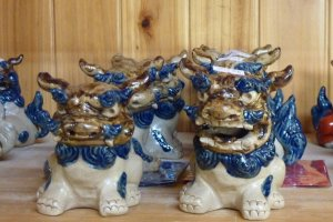 A pair of shisa, Okinawan lion dogs