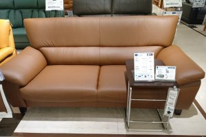 Comfortable leather sofa