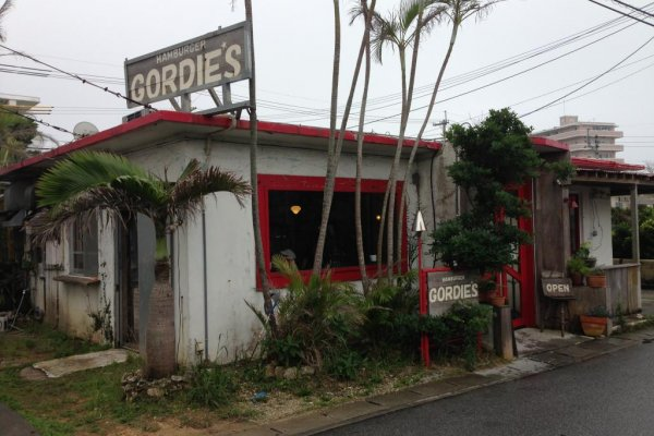 Gordie's Hamburger in Chatan Cho near the Sunabe Seawall serves its burgers from a converted American house