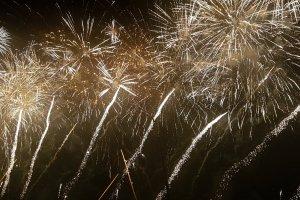 Golden fireworks at Adachi fireworks