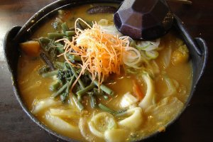 Richly rustic bowl of hoto