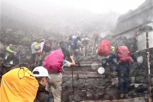 Steep terrain, especially in the rain can be a challenge. Just keep a slow and steady pace.