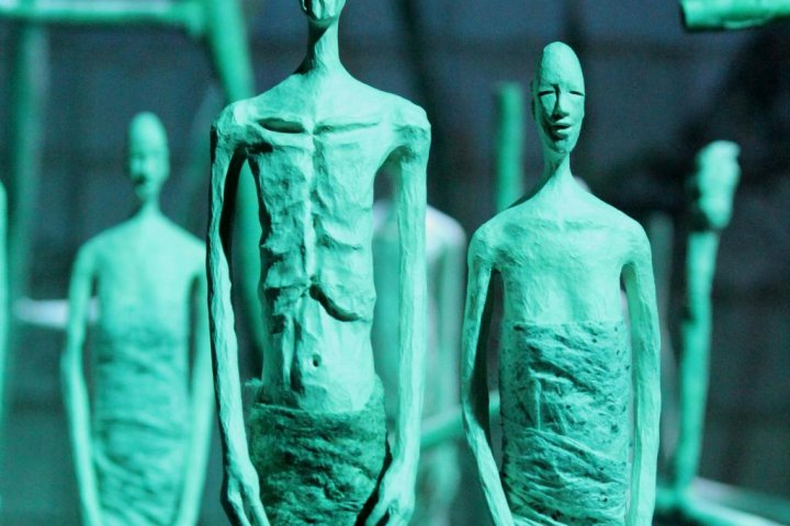 Kukai's Life in Paper Sculptures