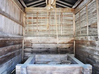 The wash house outside. The texture and colour of the wood is really beautiful.