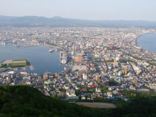 The view from atop Mt.Hakodate