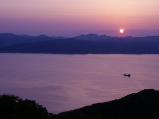 Spectacular Hakodate sunset