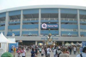 QVC Marine Stadium hosting the Summersonic Music Festival in Chiba Japan