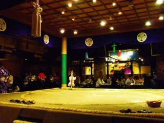 The famous sumo dohyo