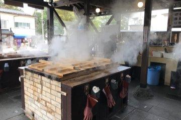 Lunch at Jigoku Mushi Kobo Kannawa