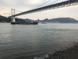 The Kanmon Strait is a busy shipping channel