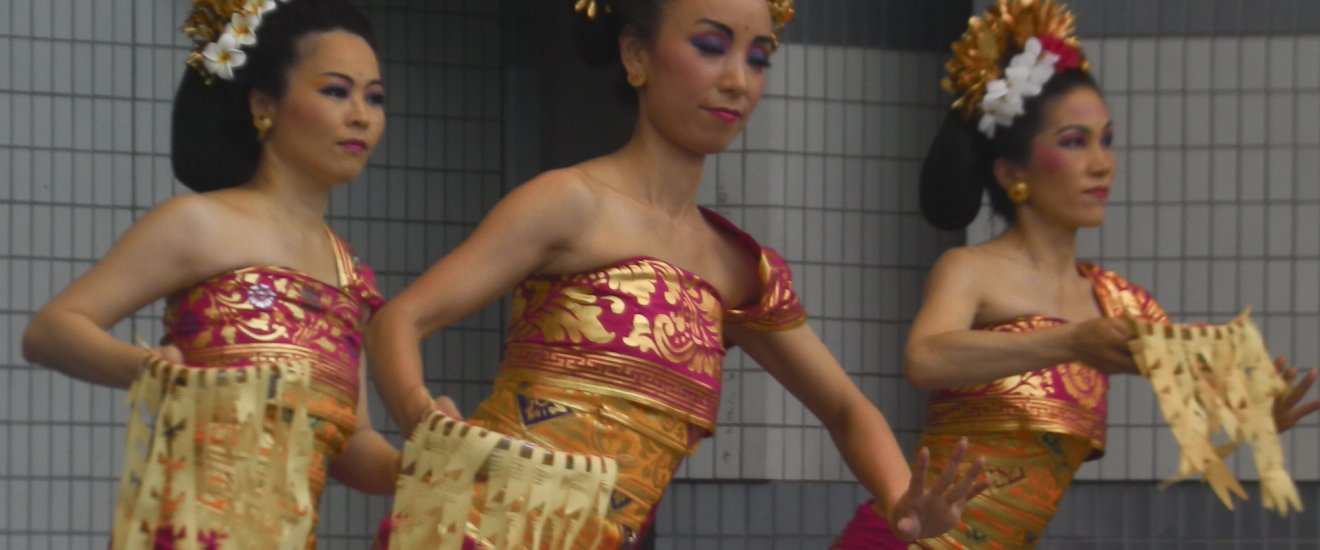 Dancers in step