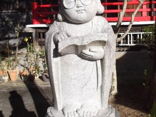 A Buddhist scholar, the only statue I've ever seen with glasses
