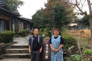 A farm stay host family