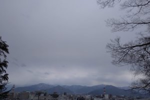 Nagano from a mountain trail