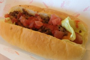 The Taco Dog tastes more like a chili dog