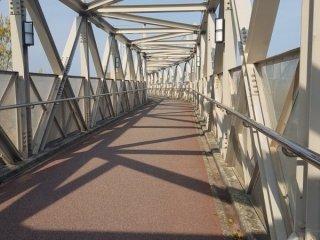 The bridge to the student dormitory.