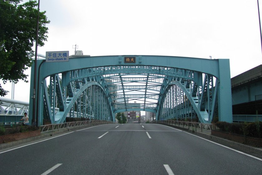 Senju Ohashi was originally a wooden bridge built in 1594