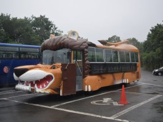 Here was one of the wildlife-themed buses used for guided tours of the park