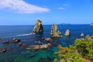 Picturesque sight of Omijima island