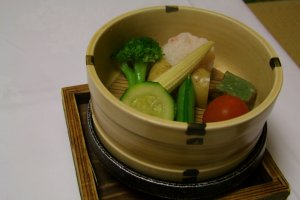 These steamed local vegetables were delicious