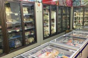 Frozen steamed buns, dumplings, and desserts.