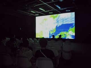 Guests can enjoy a documentary about Kure's military history.