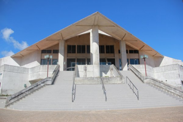 An arts Center at Tropical Beach and Park
