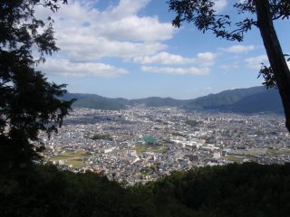 Looking out over the Kyoto suburbs