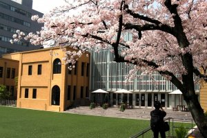 Kyoto International Manga Museum in Springtime