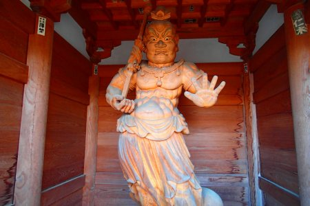 Храм Анракудзи с горячим источником